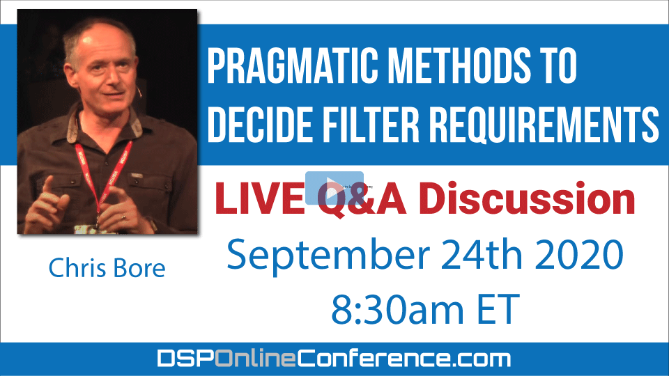 (Recording) Live Q&A Discussion - Pragmatic Methods to Decide Filter Requirements