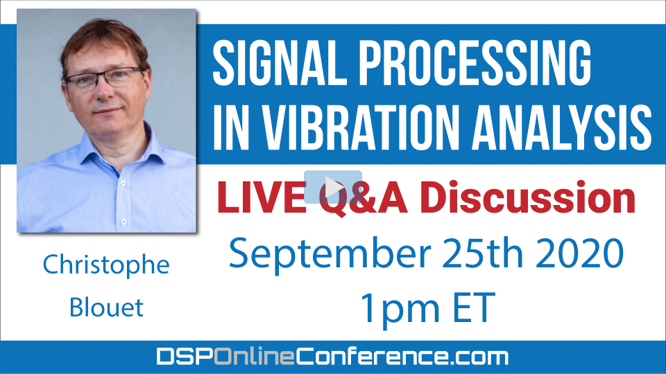 Live Q&A Discussion - Signal processing in Vibration analysis