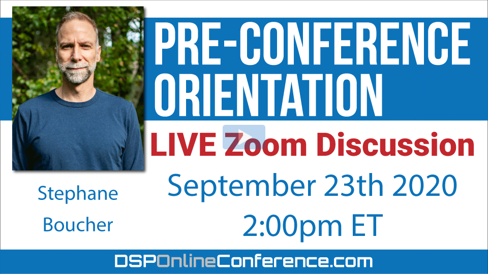 Live Pre-Conference Orientation Meeting on Zoom