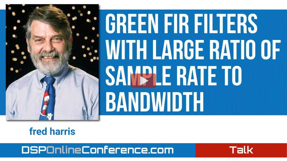 Green FIR Filters with Large Ratio of Sample Rate to Bandwidth