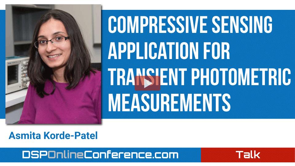 Compressive Sensing Application for Transient Photometric Measurements
