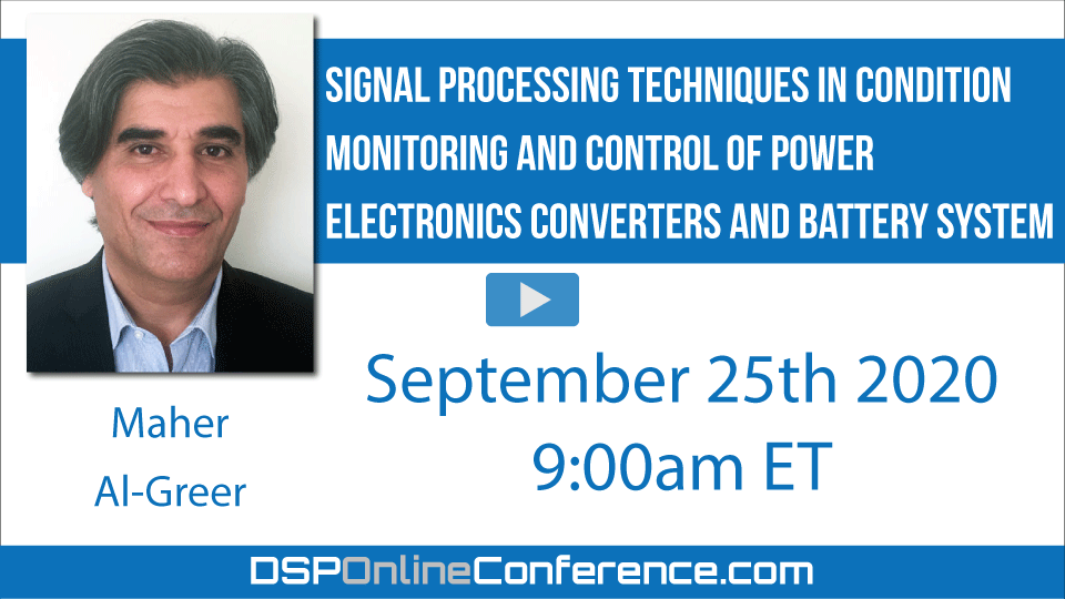 Signal Processing Techniques in Condition Monitoring and Control of Power Electronics Converters and Battery System
