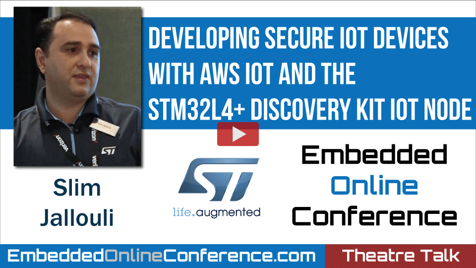 Developing secure IoT devices with AWS IoT and the STM32L4+ Discovery kit IoT node