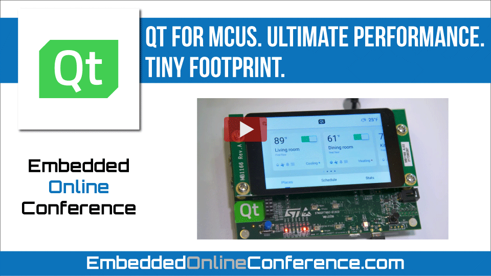 Qt for MCUs. Ultimate performance. Tiny footprint.