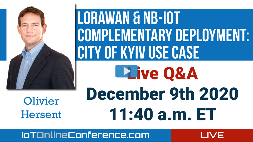 Live Q&A - LoRaWAN & NB-IoT Complementary Deployment: City of Kyiv Use Case